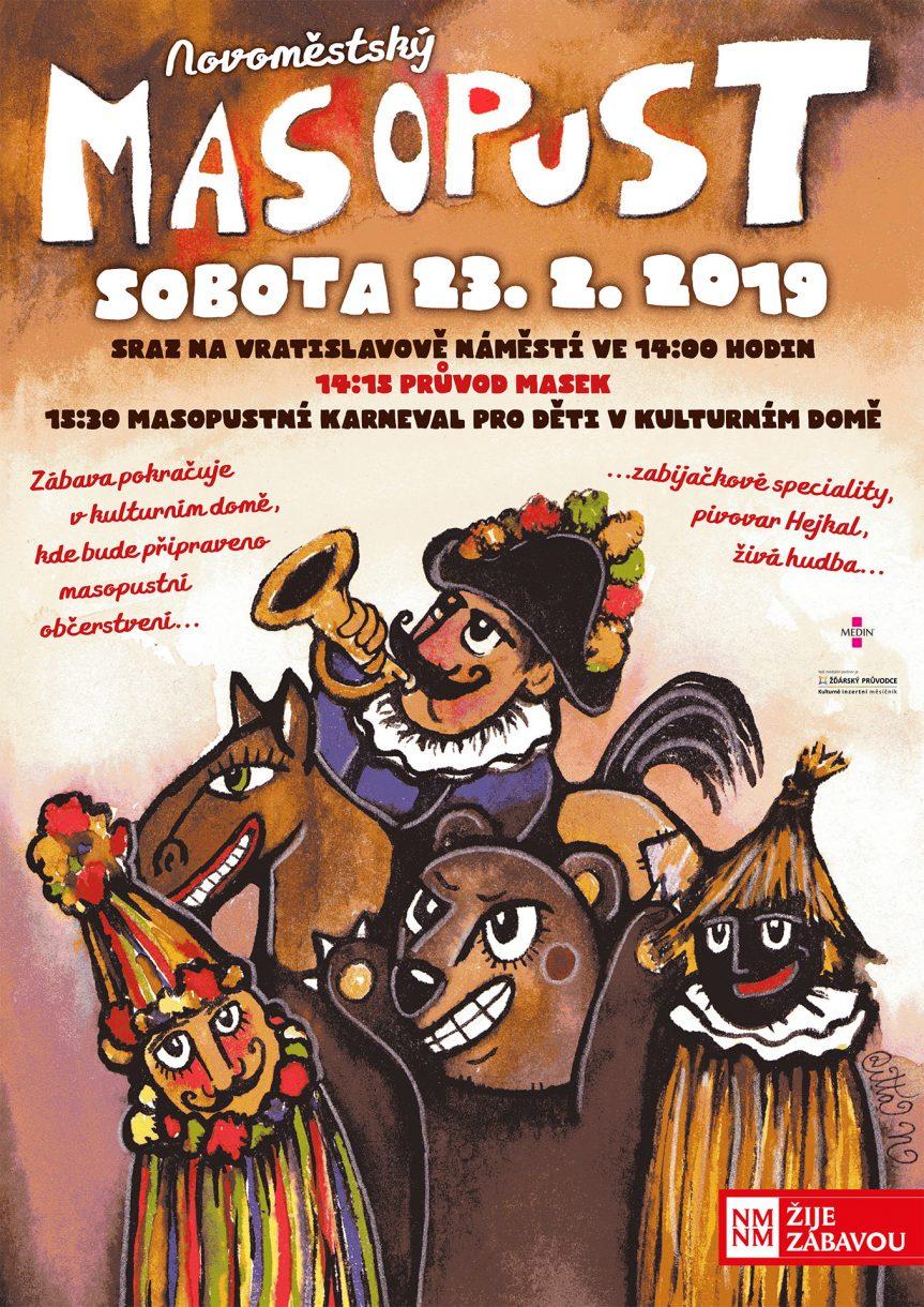 c7a579468 Masky připravit a vyrážíme. Sraz je 23. února ve 14:00 na Vratislavově  náměstí za kostelem. Odtud také vyrazí masopustní průvod masek v čele s  kapelou ...