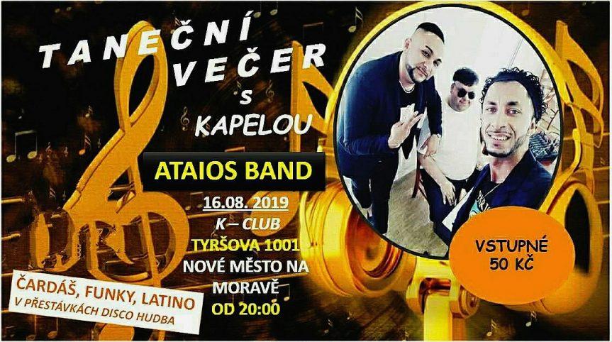 Taneční večer s kapelou Ataios Band