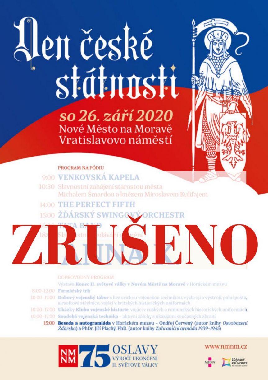 Den české státnosti – ZRUŠENO